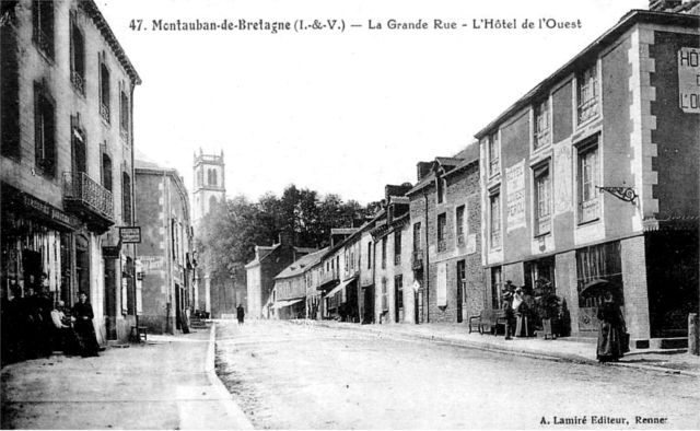 Ville de Montauban-de-Bretagne (Bretagne).