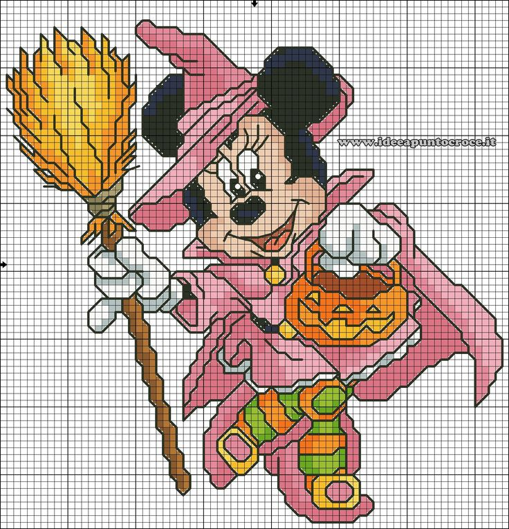 SCHEMA PUNTO CROCE MINNIE HALLOWEEN