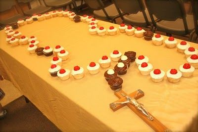 Cupcake rosary -- ok that is hilarious.  it would be fun for a faith formation class