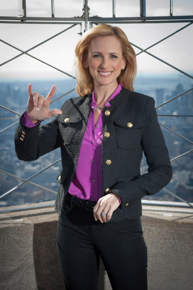 "March 4, 2013 - Marlee Matlin Official, star of ABC Family's ""Switched at Birth,"" visited the 86th and VIP 103rd floors today. Tonight's groundbreaking episode of ""Switched at Birth"" will air entirely in American Sign Language (ASL)."