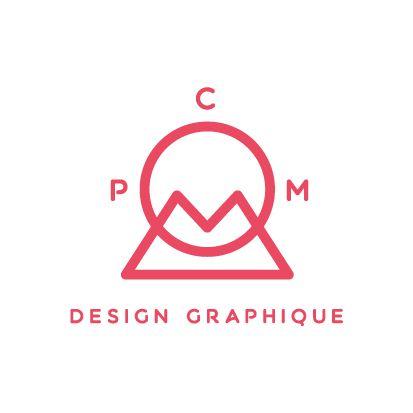 logo graphiste indépendant - Pom Com Design Graphique Brest