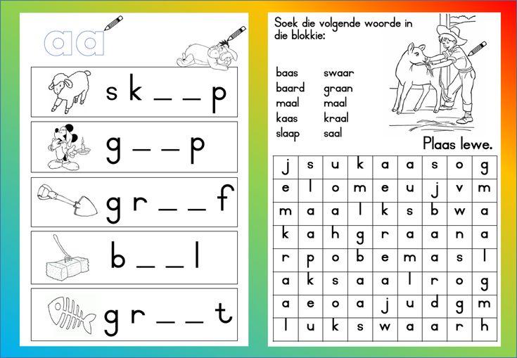 Image result for mieliestronk prentjies wat woorde bou vir graad 1