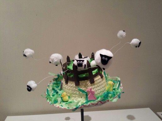 Sheep Easter bonnet.