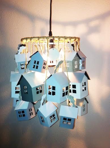 Village Pendant Lamp by SilkandSpoon on Etsy, €69.95