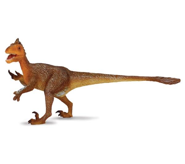 """Utahraptor - El Utahraptor era un dinosaurio carnívoro inteligente. Cazaba en manada y tenía pies de 4 dedos con una garra. Su nombre significa """"Ladrón de Utah"""". Alto: 5 cm Largo: 13 cm Figuras de gran calidad y detalle, parecen de verdad! Edad: a partir de 3 años Marca: Collecta Ref. 30384 Precio: 6.00 € IVA incluido"""