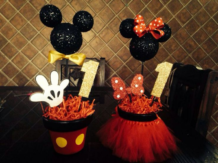 Centros de mesa Mickey  Minnie
