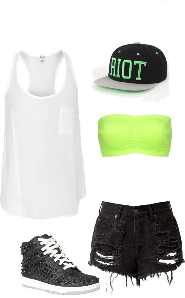 This would be a perfect hip hop outfit! With longer shorts...