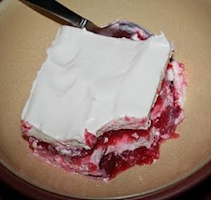 Strawberry Jello Salad  I totally love this! My Mother-in-law makes it every Thanksgiving and I devour it!