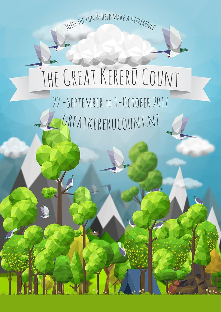 6,946 Observations made and 15,459 Kererū counted during the Great Kereru Count 2017