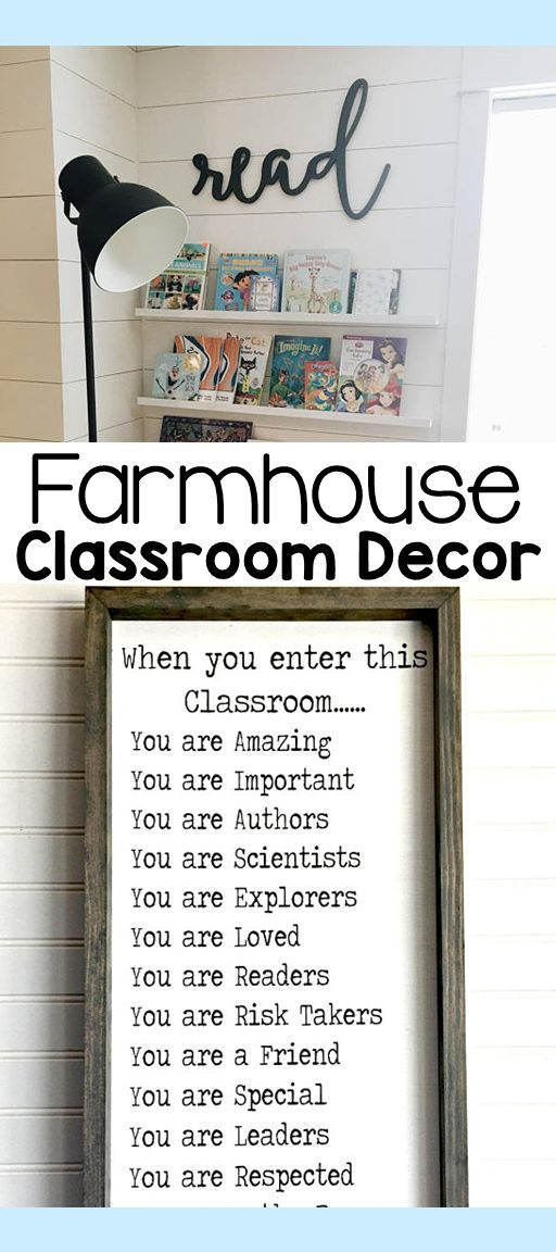 Farmhouse themed classrooms are peaceful and inviting. These accents are the perfect decoration ideas to add to your rustic farmhouse classroom.