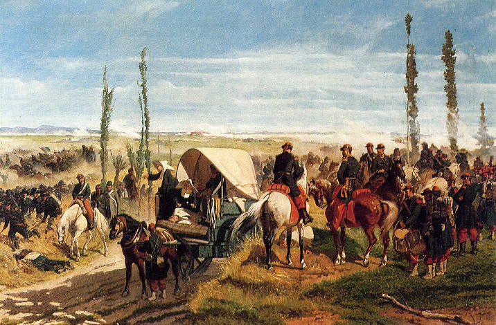 Giovanni Fattori; Il campo della battaglia di Magenta; 1861; olio su tela; Galleria d'arte moderna, Firenze.