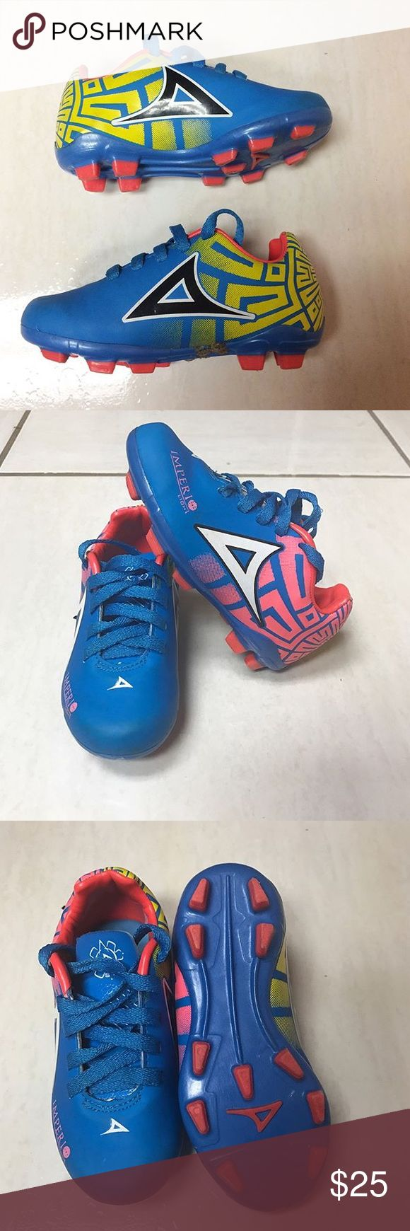 Toddler Soccer Cleats Soccer Cleats size 8c only wore once to the park GUC ‼️PLEASE MAKE SURE TO LOOK AT LAST PHOTO‼️ Soccer Cleats Shoes Sneakers
