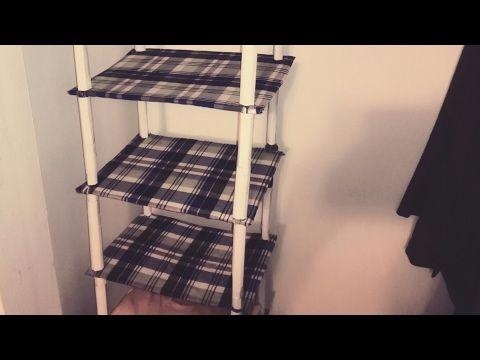 DIY: Organizer shelf for closet from cardboard - YouTube