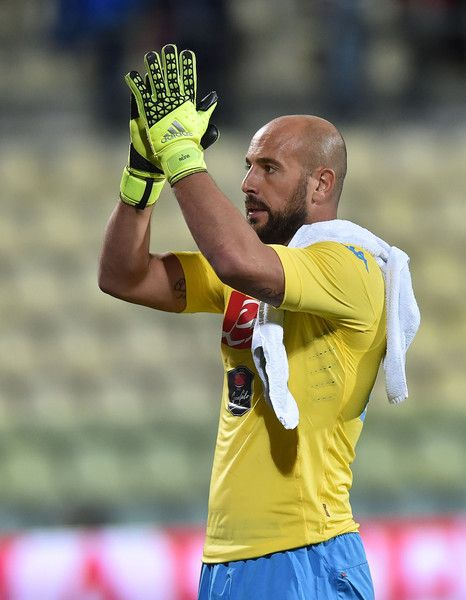 Pepe Reina Photos Photos - Pepe Reina of Napoli after the Serie A match between Carpi FC and SSC Napoli at Alberto Braglia Stadium on September 23, 2015 in Modena, Italy. - Carpi FC v SSC Napoli - Serie A