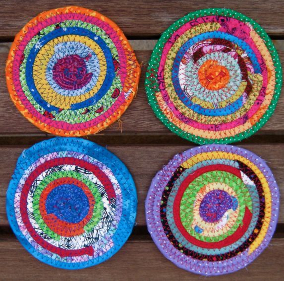 fabric coil coasters