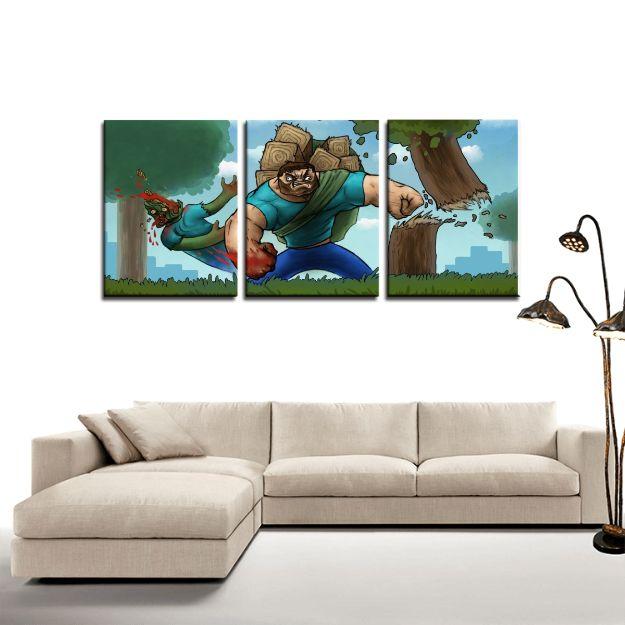 Minecraft Steve Meme Artwork 3pc Canvas Wall Art Decor   #Minecraft #Steve #Meme #Artwork #3pc #Canvas #WallArt #Decor
