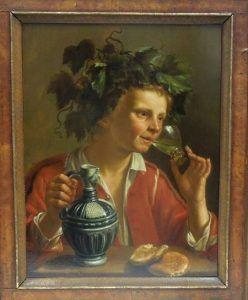 vinjournalen.se -   : Känd gammal målning av vinguden Bacchus har hittats av FBI    Credit: Stern Foundation / FBI En hundraårig gammal målning av den romerska vinguden Bacchus har hittats i New York av FBI-agenter. Målningen av Jan Franse Verzijl stals för c:a 80 år av nazisternasom sedan sålde målningen 1936. Målningen hittades på grund av ett tips som kommit in till FBI... http://www.vinjournalen.se/nyheter/2017/02/26/kand-gammal-malning-av-vinguden-bacchus-
