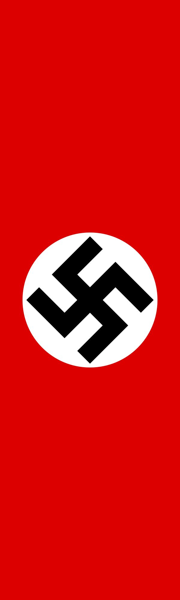 Hanging banner version of the Nazi flag.