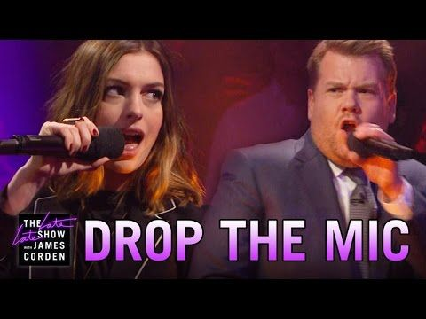 Anne Hathaway Rap Battle With James Corden -         james corden   ...