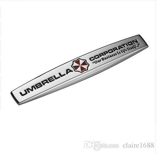 Umbrella Corporation Resident Evil Zombie 3D Metal Car Auto Motorcycle Badge Chrome Logo Emblem Sticker SUV Truck Car-Styling - $15.99