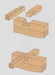 Dovetailed double joist-wall joint