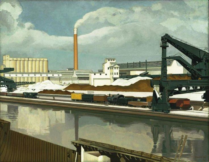 American Landscape : Charles Sheeler : circa 1930 : Industrial Art, Landscape #AmericanLandscapePainting