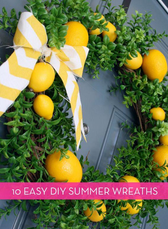 Assortment of summer wreath tutorials