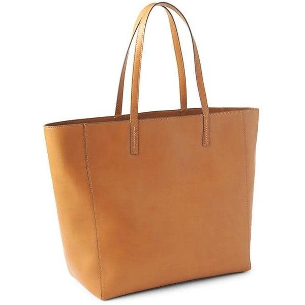 Gap Women Large Tote ($36) ❤ liked on Polyvore featuring bags, handbags, tote bags, cognac, regular, zip tote bag, vegan leather tote bag, zippered tote bag, vegan purses and handbags totes
