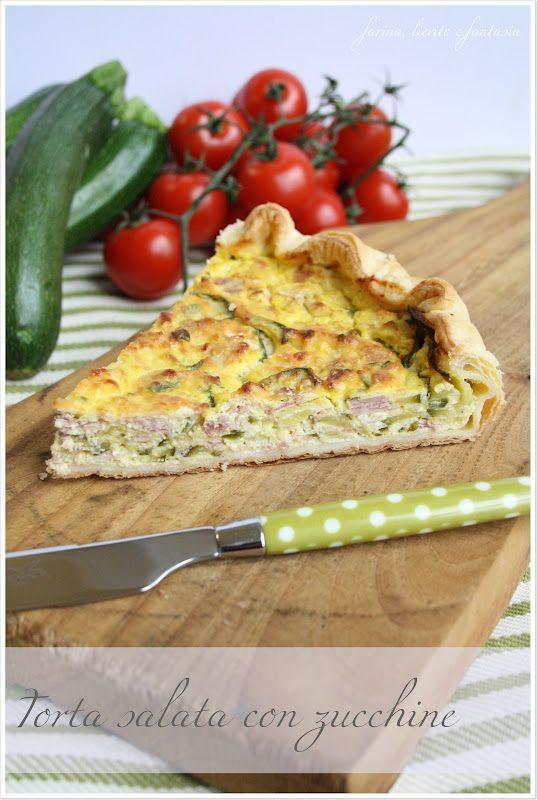 Torta salata con zucchine | Farina lievito e fantasia