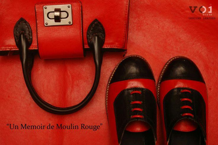 Moulin Rouge.  Red and Black Lover.  www.voibrand.com  #moulinrouge #handbag #leather #voibrand