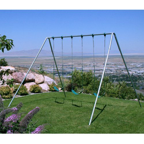 Component Playgrounds Charley Metal Swing Set - Swing Sets at Hayneedle