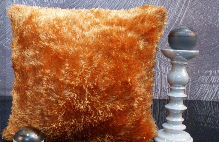 Dekoračná obliečka na vankúš - Svetlo oranžový