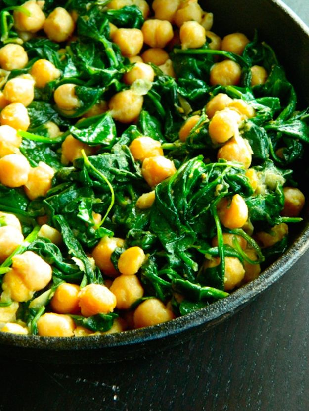 Skillet Chickpeas and Greens | 23 Easy Five-Ingredient Dinner Recipes