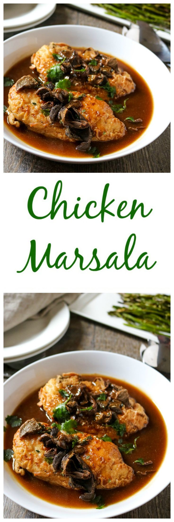 Chicken Marsala: An impressive, yet easy, recipe for Chicken Marsala that rivals any restaurant out there. Pair with roasted asparagus, and you have the perfect meal for a date-night at home.