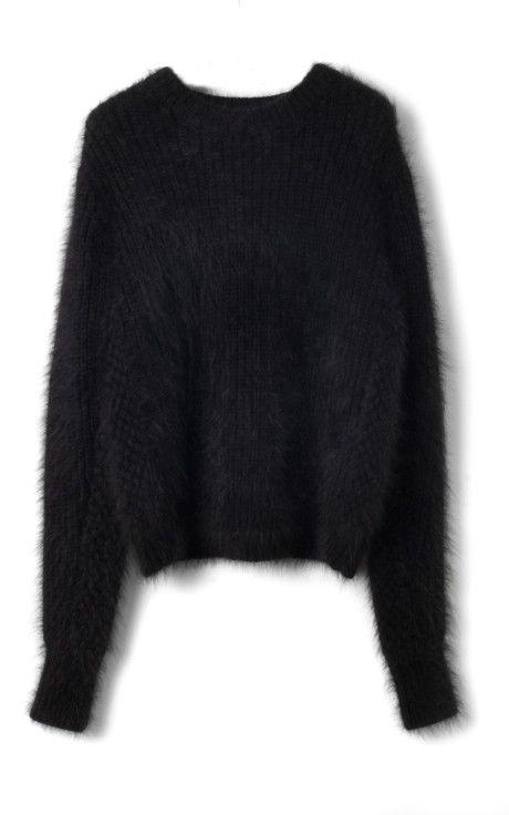 Fuzzy Angora Sweater Bubble Stitch Pullover by 3.1 Phillip Lim