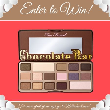 V-Day Giveaway -Too Faced Chocolate Bar Palette!! #BELLAVDAY