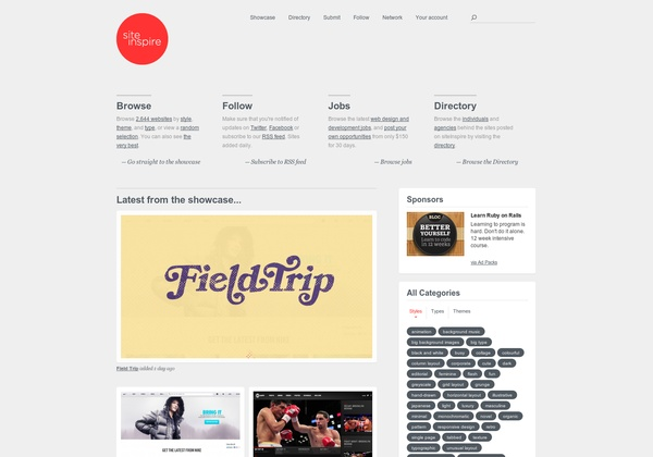 http://siteinspire.com via @url2pin
