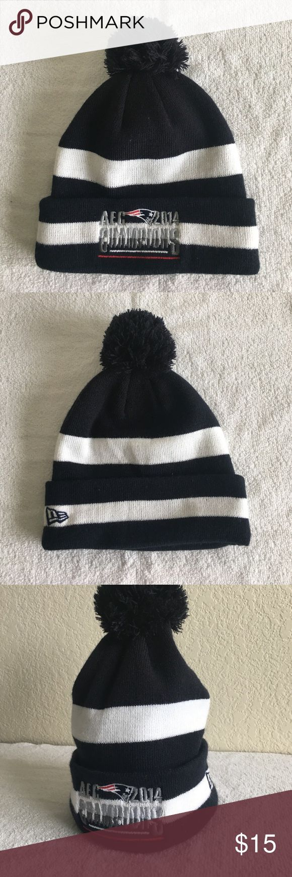 New Era New England Patriots '14 AFC Champs Beanie New Era New England 2014 AFC Champions Pom Beanie. 100% acrylic. Worn Once New Era Accessories Hats