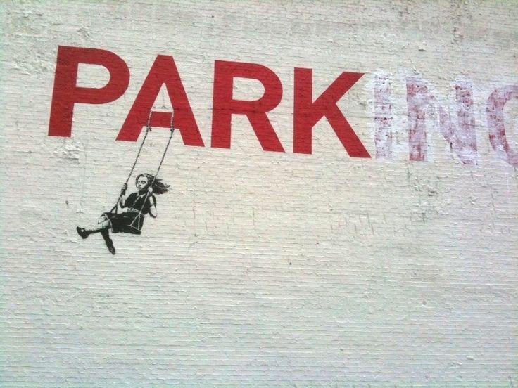 Banksy, Banksy, BanksyDesign Inspiration, Street Artists, Urban Parks, Graffiti, Graphics Design, Banksy Streetart, Los Angels, Swings Sets, Street Art Banksy