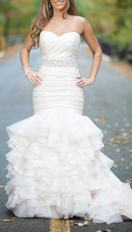 Dennis Basso Blush Sweetheart Mermaid Gown in Organza / Style Number:32360901 on oncewed.com