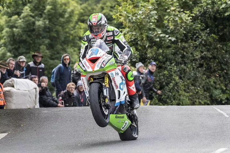 James Hillier on his Kawasaki 600