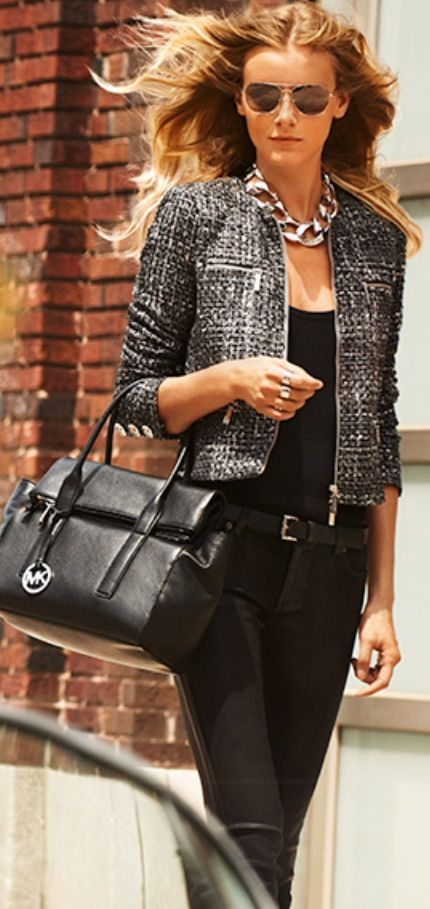 Add a finishing touch with must-have MICHAEL Michael Kors handbags #michaelkors #handbags #bags