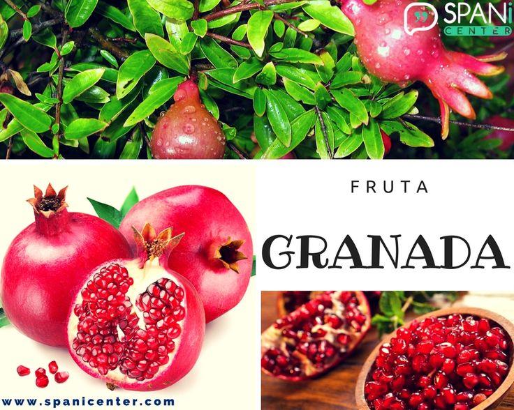 #Granada #Fruit #Fruta #LearnSpanish