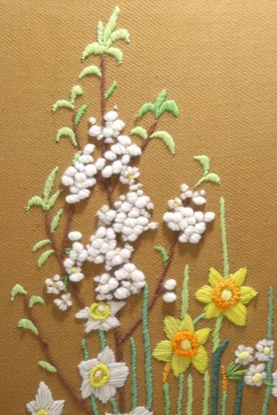 21 best crewel embroidery and stitch work gallery wall ideas images ...
