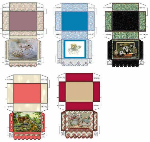 Printable Dollhouse Size Magazine 1960 Era: 566 Best Images About Dolls House Printables Boxes On