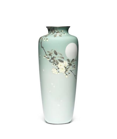 A cloisonné enamel baluster vase By Ando Jubei, Meiji Period