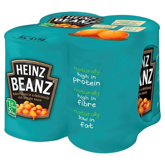 Heinz Baked Beans In Tomato Sauce 415G X 4 Pack - Groceries - Tesco Groceries