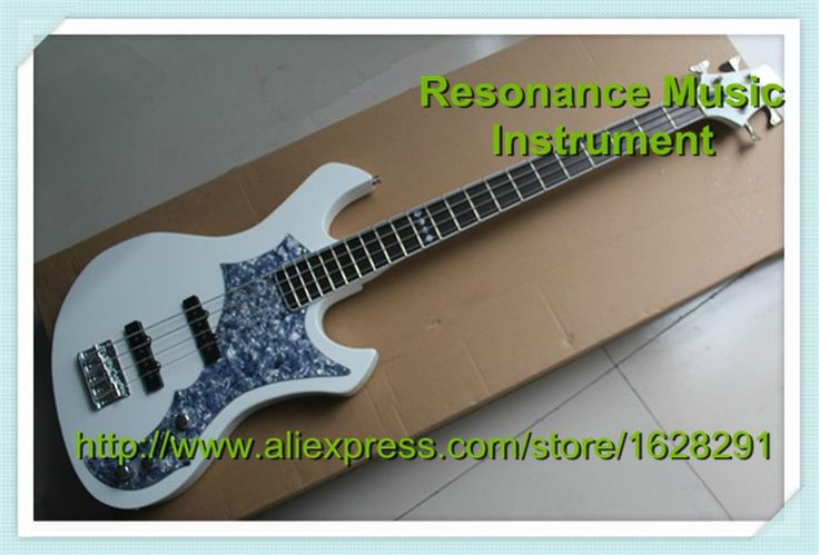 264.10$  Watch here - http://alivb3.worldwells.pw/go.php?t=32297804375 - New Arrival ESP 4 String Bass Electric Guitar White With Pearl Pickguard Left Handed Bass Available 264.10$