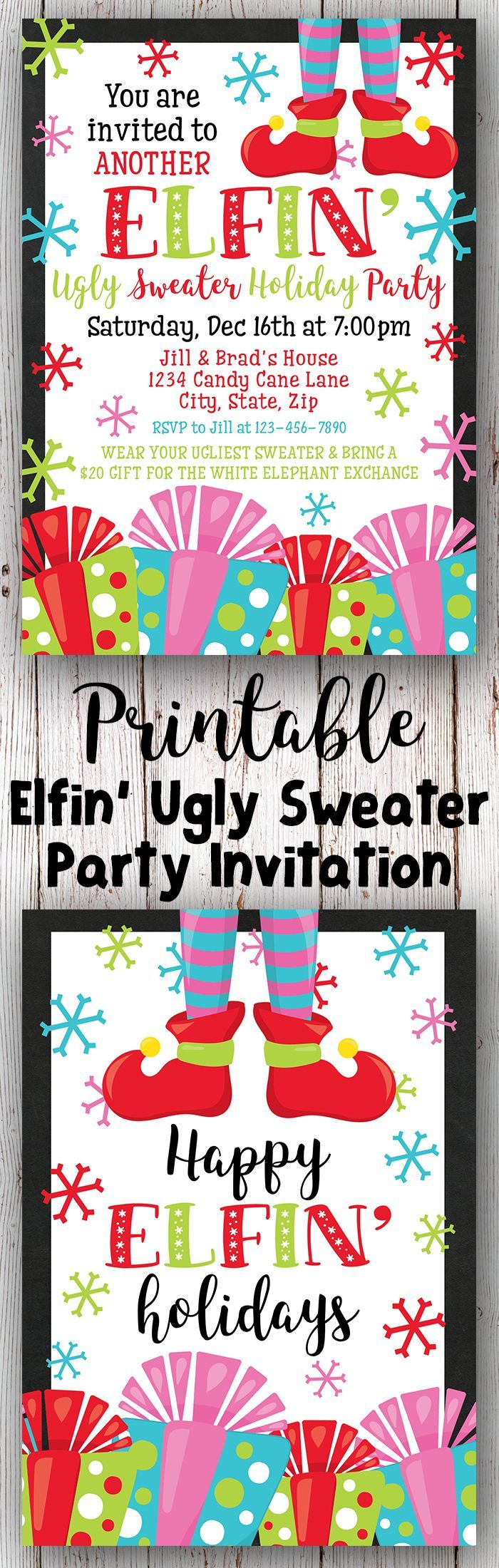 Best 25+ Ugly sweater party invites ideas on Pinterest | Ugly ...