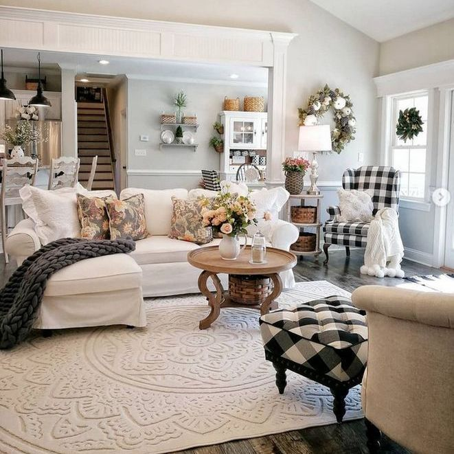 36 The Meaning Of Rustic Farmhouse Living Room Design And Also Style Ideas Farm House Living Room French Country Living Room Rustic Farmhouse Living Room